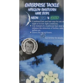 Enterprise Tackle Niteglow Sweetcorn Hairstops