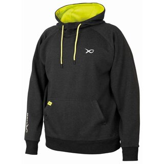 Matrix Minimal Black Marl Lime Hoody - Medium